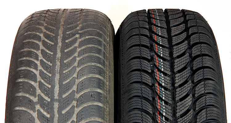 New vs used tyres
